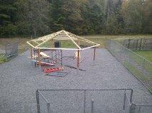 Yard Gazebo Being Built